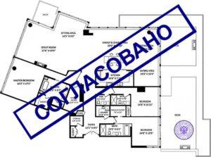 Поэтажный план и экспликация объекта